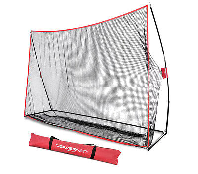 PowerNet 10x7 Golf Practice Training Net for Hitting w/ FREE Carry Bag