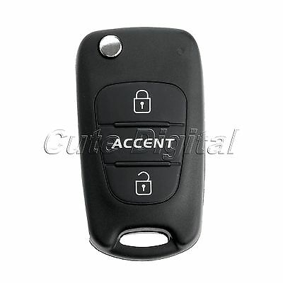 Uncut Remote Key Case 3 Button Replace Flip Folding Key Shell for HYUNDAI Accent