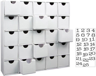 3D Countdown to Christmas Advent Calendar with 25 Numbers