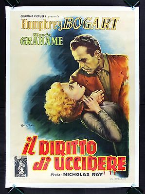 IN A LONELY PLACE * CineMasterpieces ITALIAN ITALY HUMPHREY BOGART MOVIE POSTER