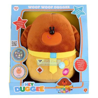 Hey Duggee Woof Woof  Duggee Character Plush Soft Toy Sound & Phrases 30cm ABC