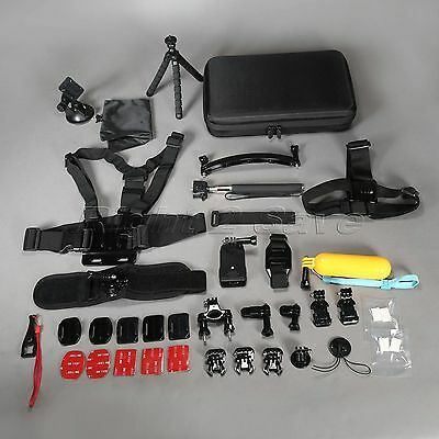Accessories Set Kit 22 in1 for Gopro Hero 4 3+ 3 2 Bag Monopod Head Chest Strap