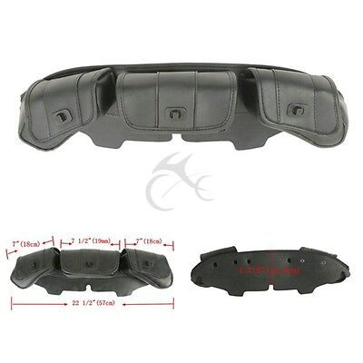 Windshield Bag Tri Pouch 3 Pocket For Harley Touring Electra Glide FLHX 96-13