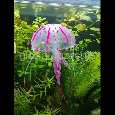 Méduse Artificielle Lumineux aquarium Ornament Fish Tank Décoration Rose