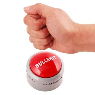 Bullshit Talking Button Cheeky Adult Fun Gag Novelty Gift Office Home Work