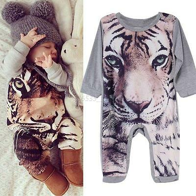 Newborn Infant Baby  Romper Jumpsuit Bodysuit Boy Girl Kids Animal Print Outfits