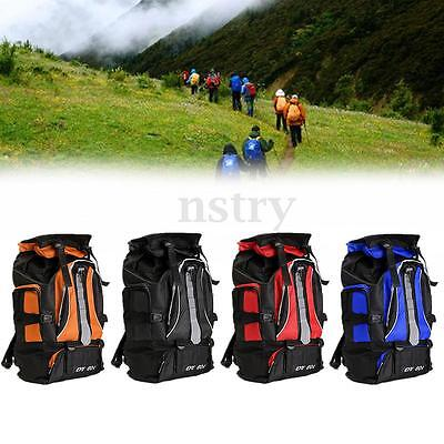 60L Waterproof Rucksack Backpack Bag Outdoor Camping Hiking Trekking Travelling