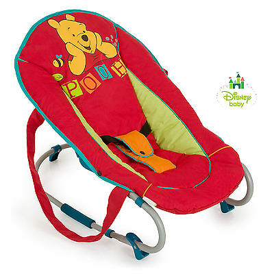 Hauck Disney Winnie The Pooh Red Rocky Deluxe Rocker Bungee Baby Bouncer Chair