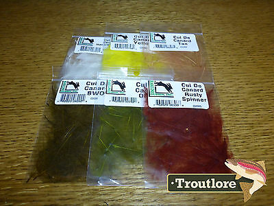 6 Pack Cdc Colours Combo Hareline Dubbin Cul De Canard - New Fly Tying Feathers