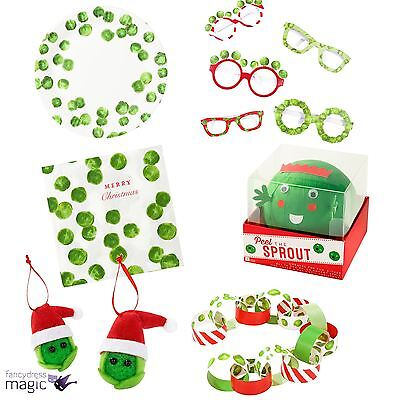 Talking Tables Botanical Funny Sprout Christmas Xmas Partyware Festive Veg Lot
