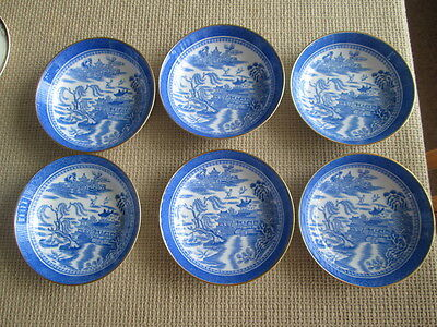 Set Of 6 Copeland Willow Dishes