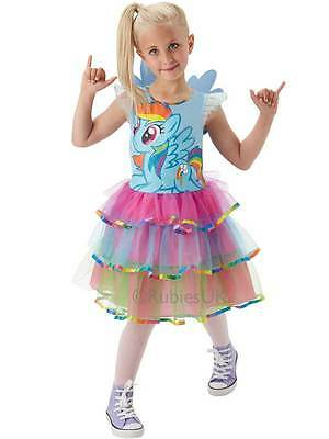 3-4y DLX Rainbow Dash Girls My Little Pony Fancy Dress Child Kids Costume Outfit