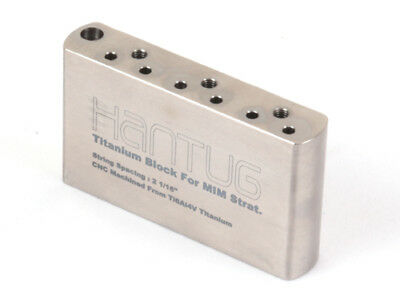 Titanium Tremolo Block for Made in Mexico import Strat