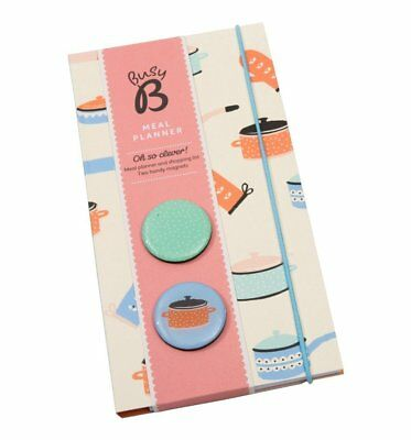 NEW! Busy B Meal Planner Organiser Shopping List Weekly Chart + Magnets