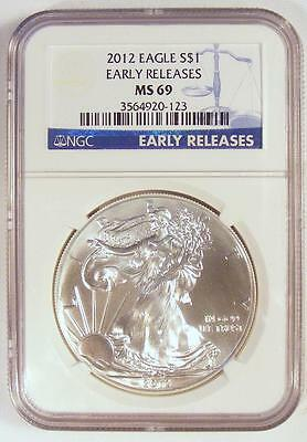 NGC MS69 EARLY RELEASES 2012 American Silver Eagle!!  NICE COIN!!  TAKE A LOOK!!