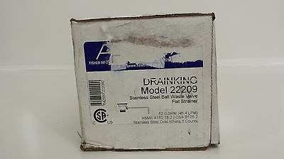 New Fisher Drainking Stainless Steel Ball Waste Valve Flat Strainer 22209