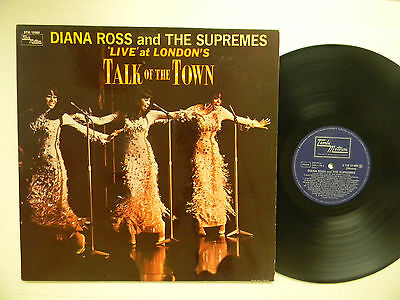 Diana Ross + Supremes (import Lp) LIVE AT..TALK OF THE TOWN ~Motown VG++German