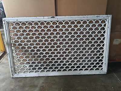 Huge Antique Ornate Cast Iron Architectural Building Heating Grate Cover
