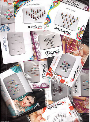 2,5,10,15,25,50,100,200,500,1000 PACK-Bollywood Tikka BINDIS/Temporary Tattos
