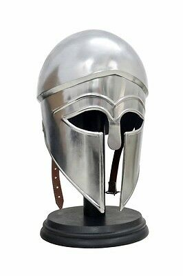 Greek Corinthian Armor Helmet ~ Antique Finish ~ Medieval Knight Crusader Armor