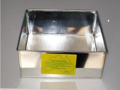 CAKE TIN SQUARE 3.7 inch / 9.5 cms ( L X B ) - 3 inch DEEP - SHARP EDGED PAN