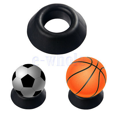 Ball Stand Basketball Football Soccer Rugby Plastic Display Holder Base BE