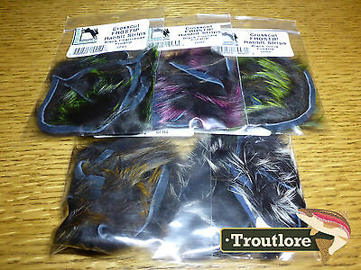 5 Pack Crosscut Frostip Rabbit Strips Combo Hareline - New Fly Tying Material