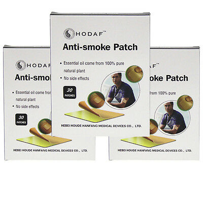90 PCS NATURAL STOP QUIT SMOKING PATCH NON No Nicotine Patches 3 Monthes Supply