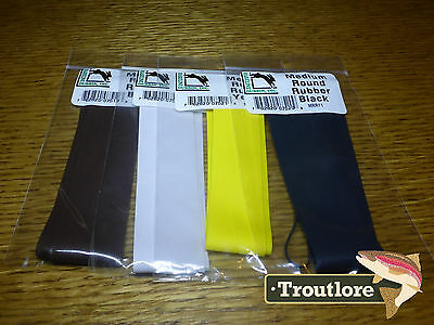 4 Pack Hareline Medium Round Legs - New Fly Tying Nymph & Streamer Leg Material