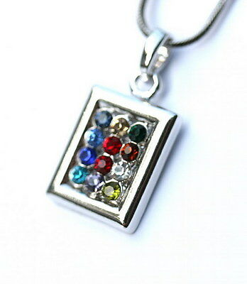 Jewish Messianic Hoshen Pendant Necklace High Priest Breastplate 12 Tribe Israel