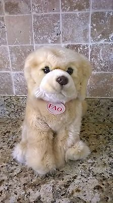 "16"" Golden Retriever Dog FAO Schwarz Plush Soft Toy Stuffed Animal TY NWOT"