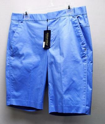 New Ladies Size 8 Ralph Lauren POLO GOLF Cotton Polyester blue shorts
