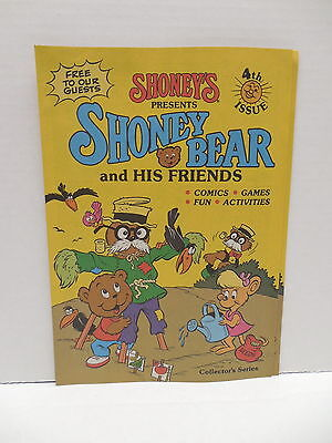 Shoney's Presents Shoney Bear And Friends Comics Games Fun Activity Book Issue 4