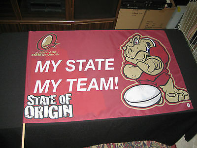 QUEENSLAND MAROONS FLAG State Of Origin Cane Toad Large 870x580mm -NEW!
