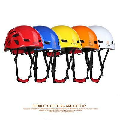 Safety Rock Climbing Tree Carving Downhill Rescue Helmet Gear Equipment B