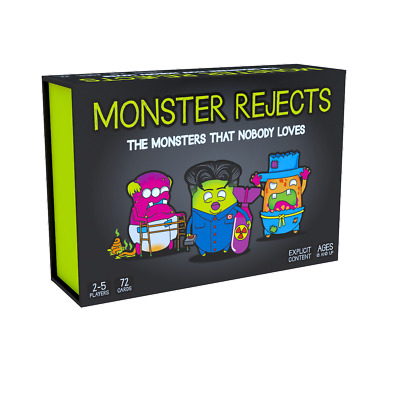 Monster Rejects Card Game The Monsters That Noboday Loves