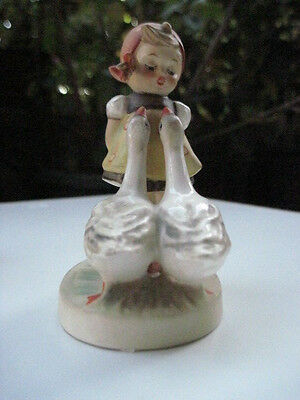 Vintage Collectible Goebel Hummel Goose Girl West Germany Figurine 47 3/0 TMK 5