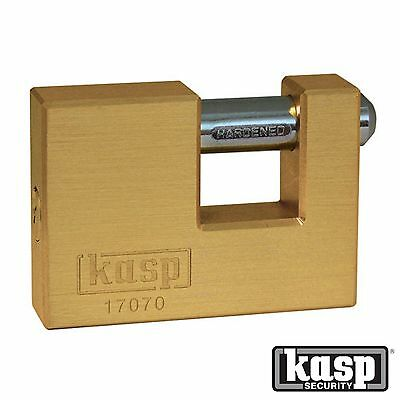 KASP RATED 9 SECURITY BRASS SHUTTER PADLOCK 70mm 170 Series K17070D Lock + 2 Key