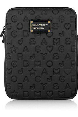 Marc by Marc Jacobs Black Dreamy Logo tablet protective sleeve case zipper bag