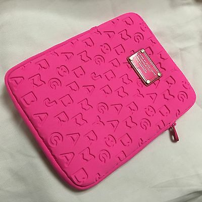 Marc by Marc Jacobs RoseRed Dreamy Logo tablet protective sleeve case zipper bag