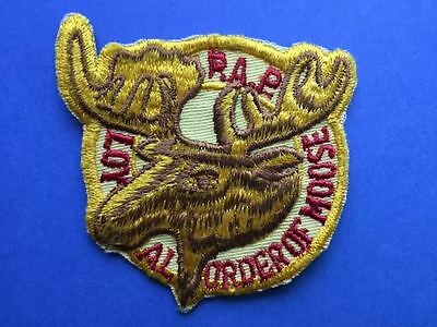 Vintage 1970's P A P Loyal Order Of Moose Lodge Iron On Jacket Patches Crests D
