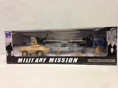 Military Mission 1:72 Bell Boeing V-22 Osprey, Armored Vehicle,soldiers,new Ray