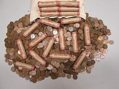 Unsearched Wheat Penny Rolls 1909svdb found 1-5-2016 !! 1 bid = 1 roll