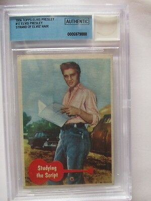 1956 Elvis Presley Card & Authentic Elvis' Hair Strand Beckett Authenticated