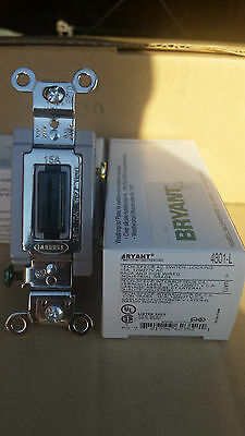 Hubbell Bryant 4801-L 120/277AC 15A Locking Switch