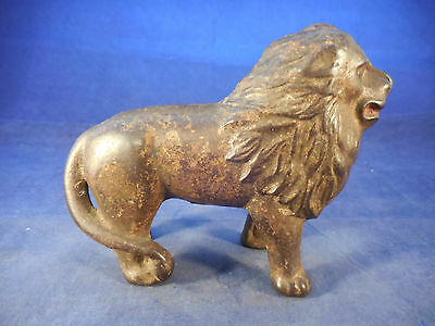 """Antique Cast Iron Lion Bank 5"""" Long By 3"""" Tall"""
