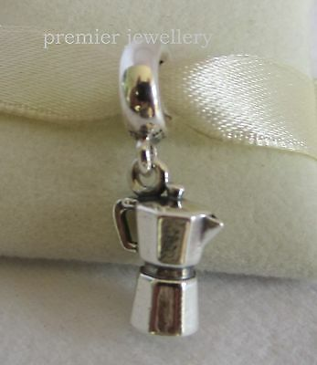 Authentic Genuine Pandora Sterling Silver Coffee Lovers Dangle Charm 791514