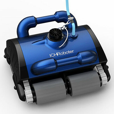 ICH iCleaner 120 Robotic Pool Cleaner w/Caddy & Remote. Floor, Wall, Waterline,