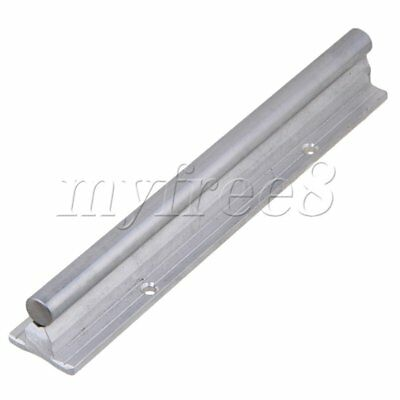 CNBTR L200mm 12mm Shaft Dia Linear Bearing Support Rail CNC Linear Motion