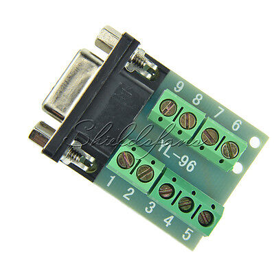 2X DB9 connector female adapter signals Terminal module RS232 Serial to Terminal